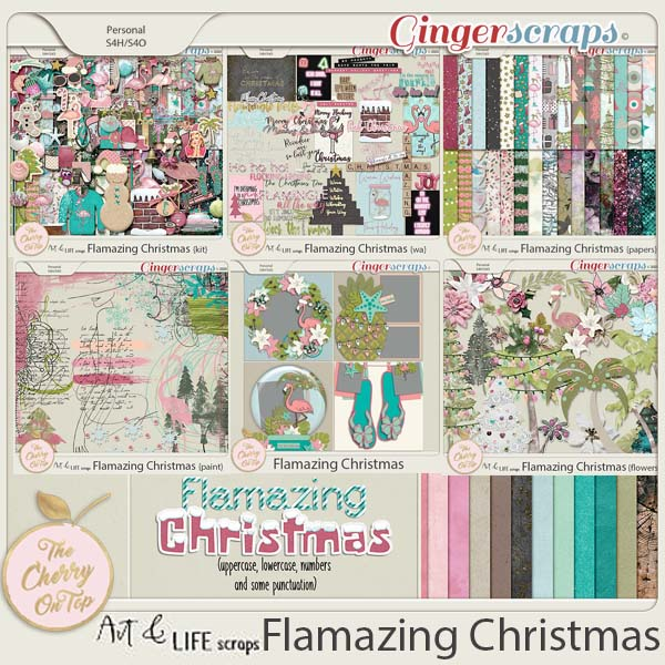 The Cherry On Top:  Art And Life Scraps Flamazing Christmas Collection