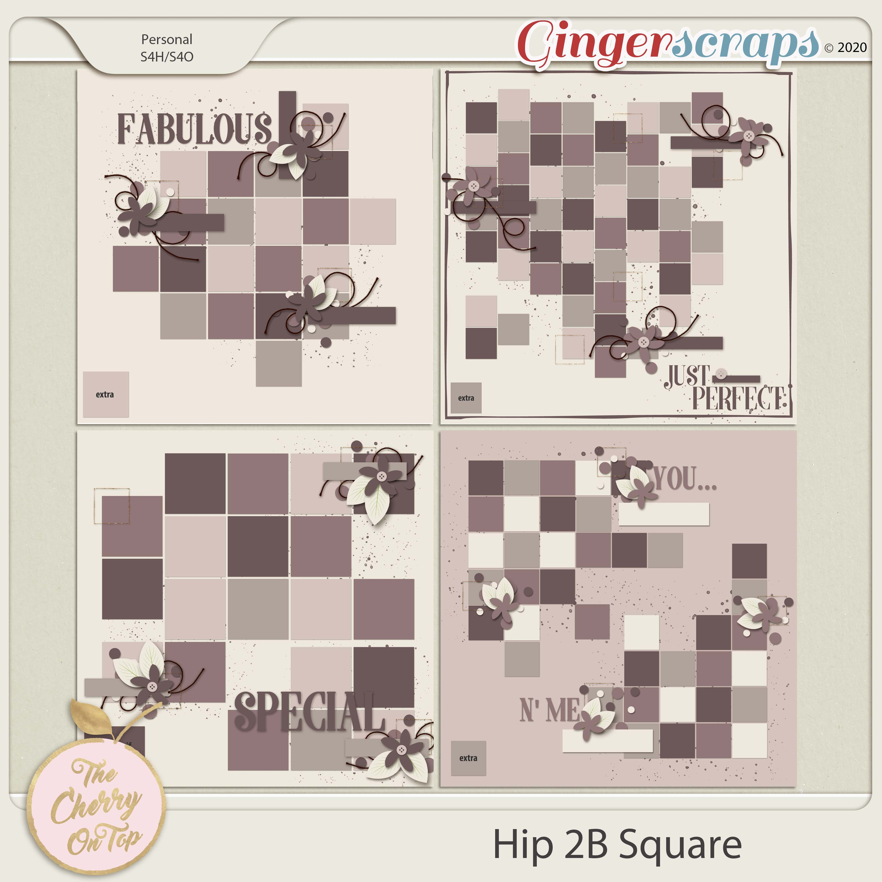 The Cherry On Top: Hip To Be Square Templates