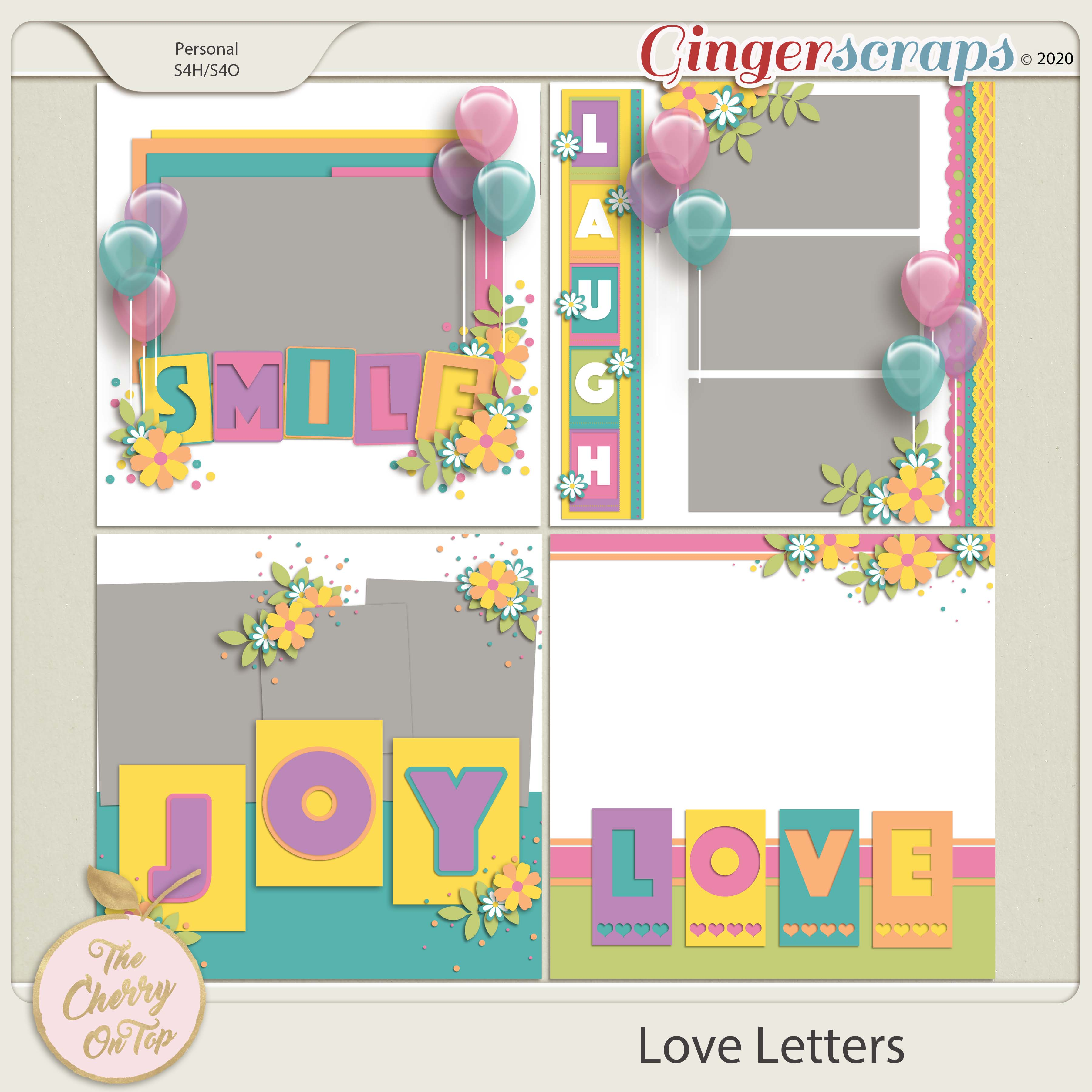 The Cherry On Top:  Love Letters Templates