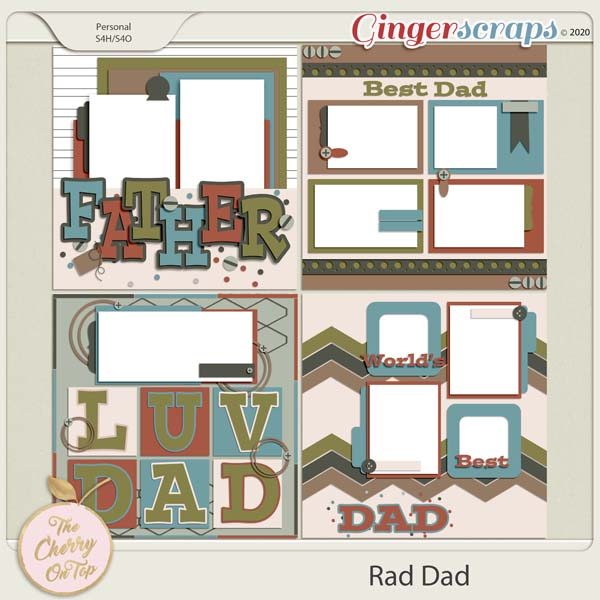 The Cherry On Top:  Rad Dad Templates