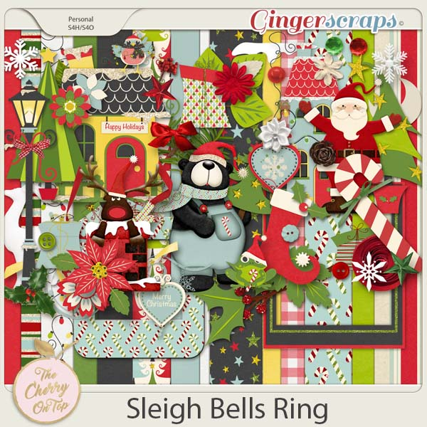 The Cherry On Top:  Sleigh Bells Ring Scrapbooking Kit
