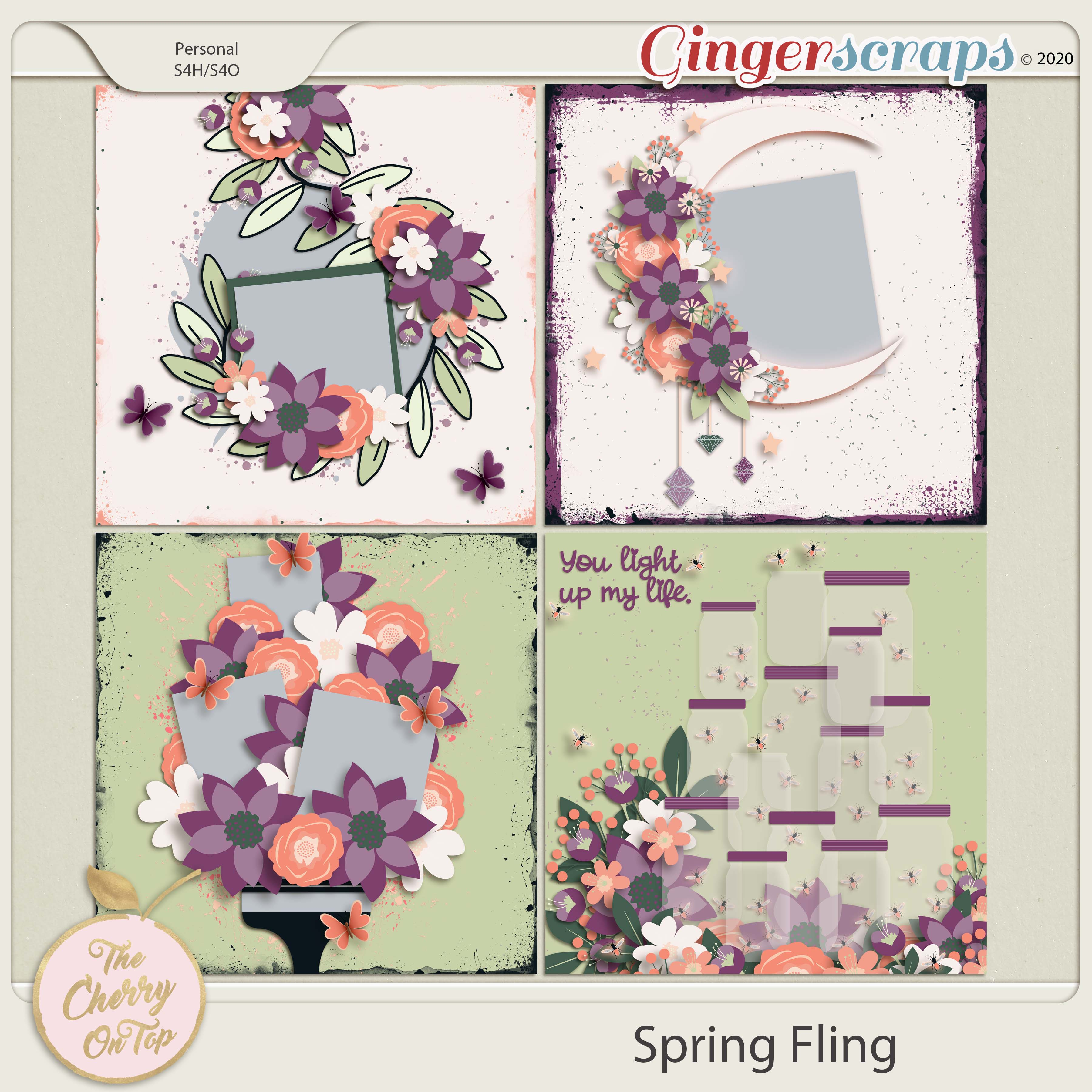 The Cherry On Top:  Spring Fling Templates
