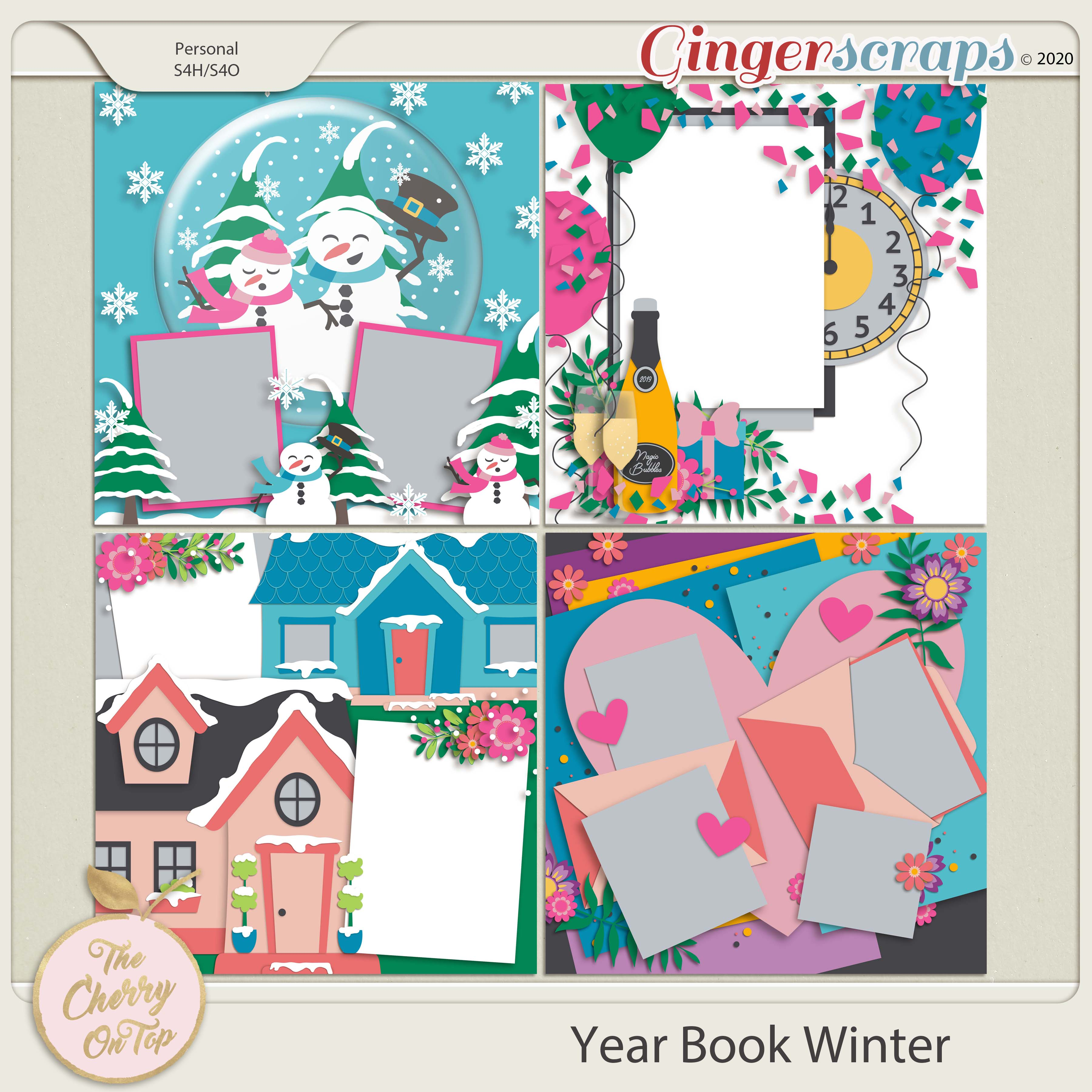 The Cherry On Top: Yearbook Winter Templates