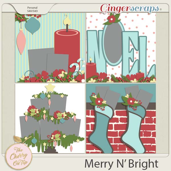 The Cherry On Top:  Merry N' Bright Templates