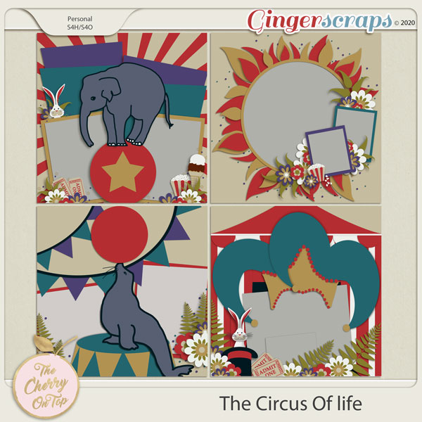 The Cherry On Top:  The Circus Of Life Templates