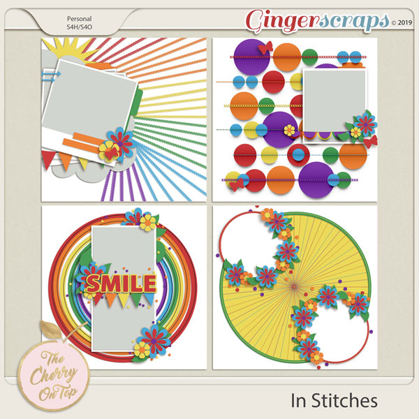 The Cherry On Top:  In Stitches Templates