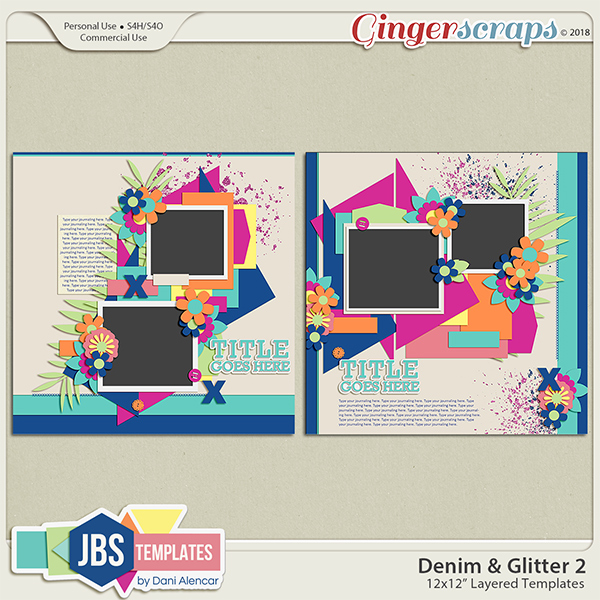Denim & Glitter Templates 2 by JB Studio