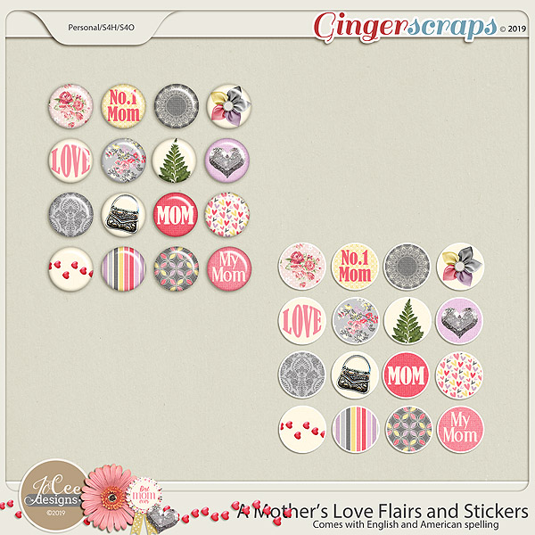 A Mother's Love Flairs and Stickers by JoCee Designs