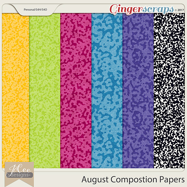 August Compositon Papers by JoCee Designs