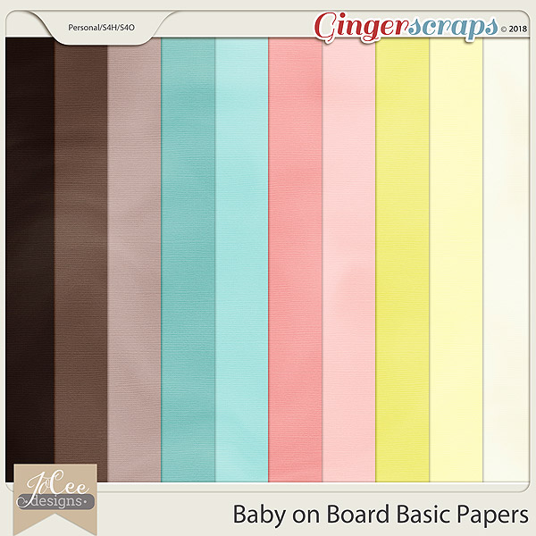 Baby on Board Basic Papers by JoCee Designs