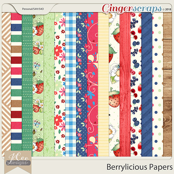 Berrylicious Papers by JoCee Designs