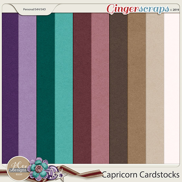 Capricorn Cardstocks by JoCee Designs