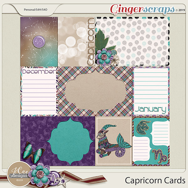 Capricorn Cards by JoCee Designs