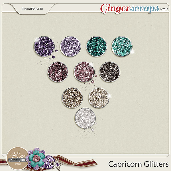 Capricorn Glitters by JoCee Designs