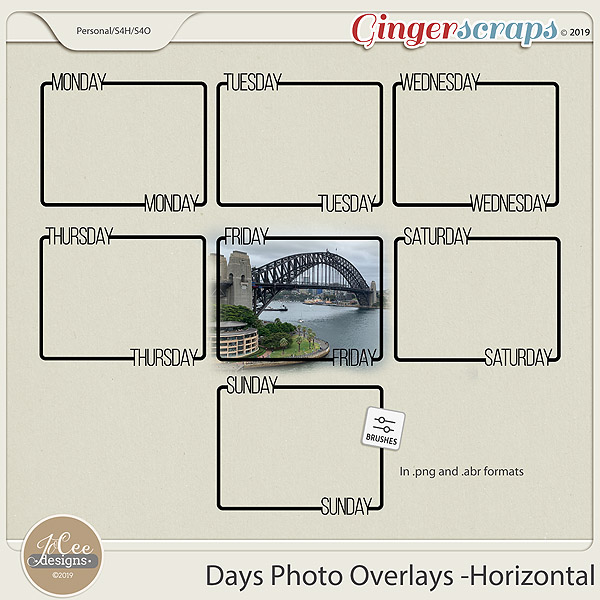 Days Photo Overlays – Horizontal
