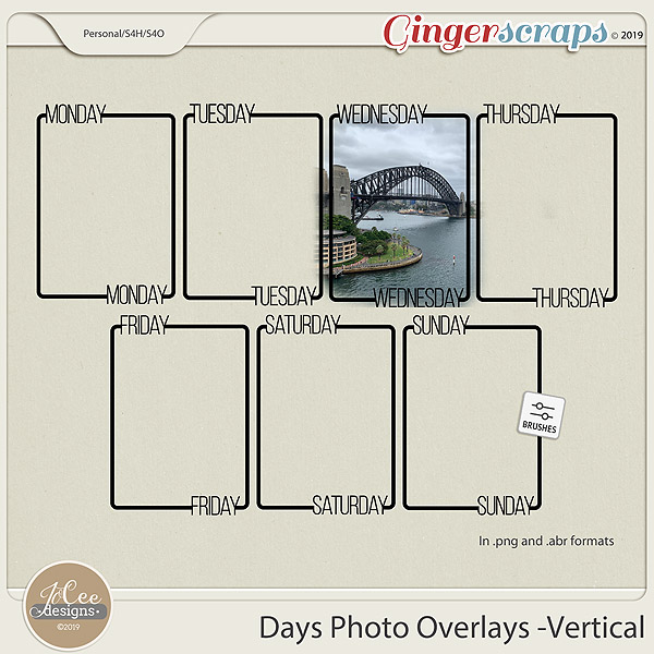 Days Photo Overlays – Vertical