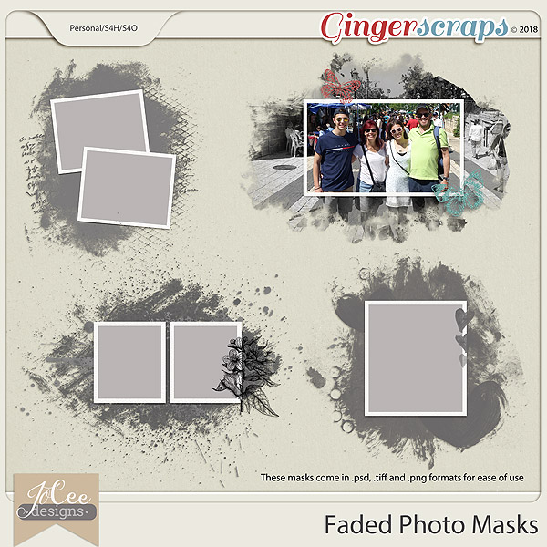 Faded Photo Masks by JoCee Designs