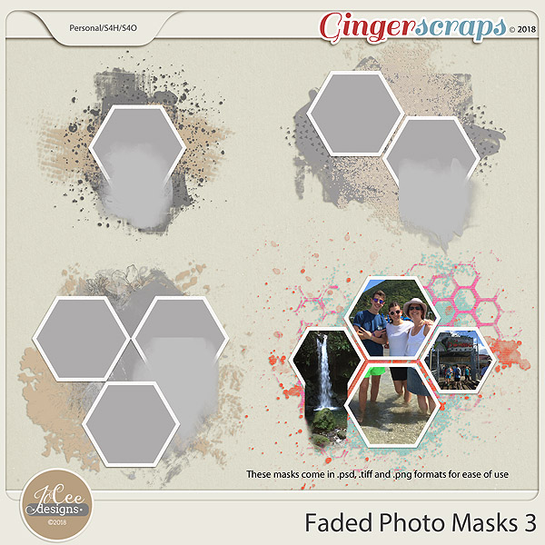 Faded Photo Mask 3 by JoCee Designs