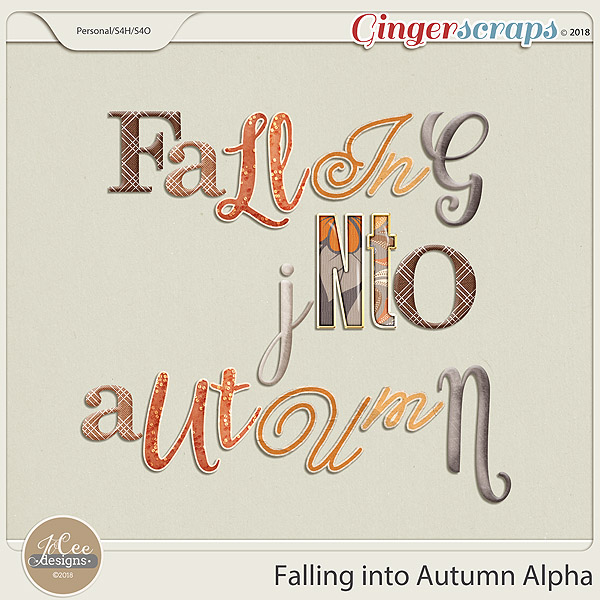 Falling into Autumn Alphas by JoCee Designs