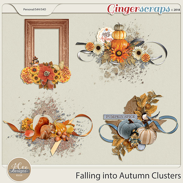 Falling into Autumn Clusters by JoCee Designs