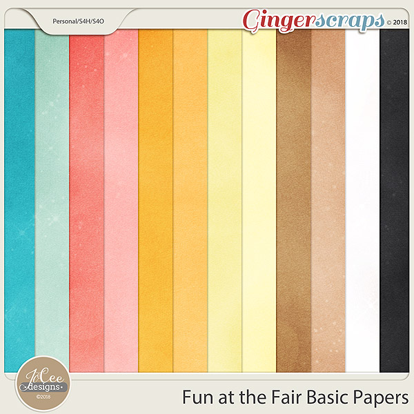 Fun At The Fair Basic Papers by JoCee Designs
