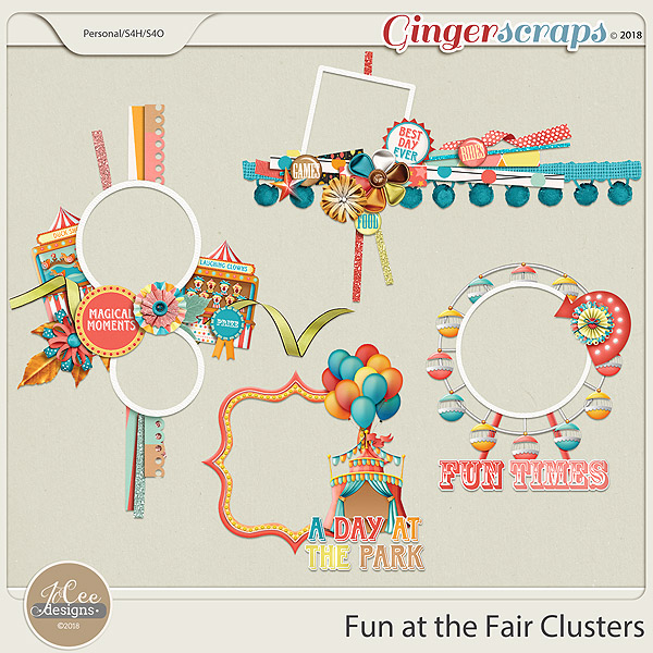 Fun At The Fair Clusters by JoCee Designs