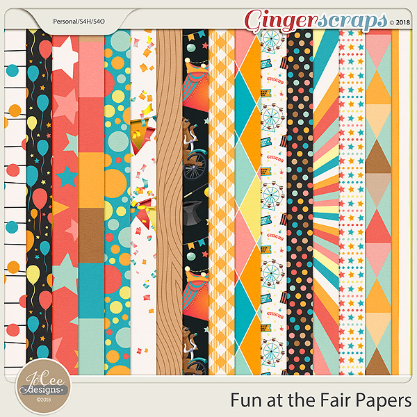 Fun At The Fair Papers by JoCee Designs