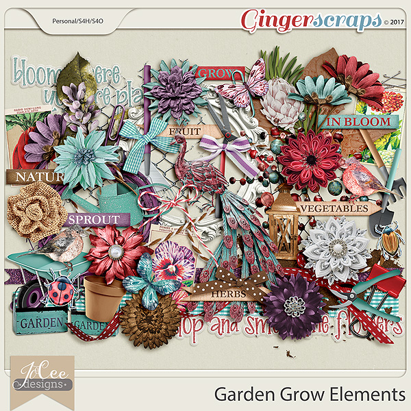 Garden Grow Elements by JoCee Designs