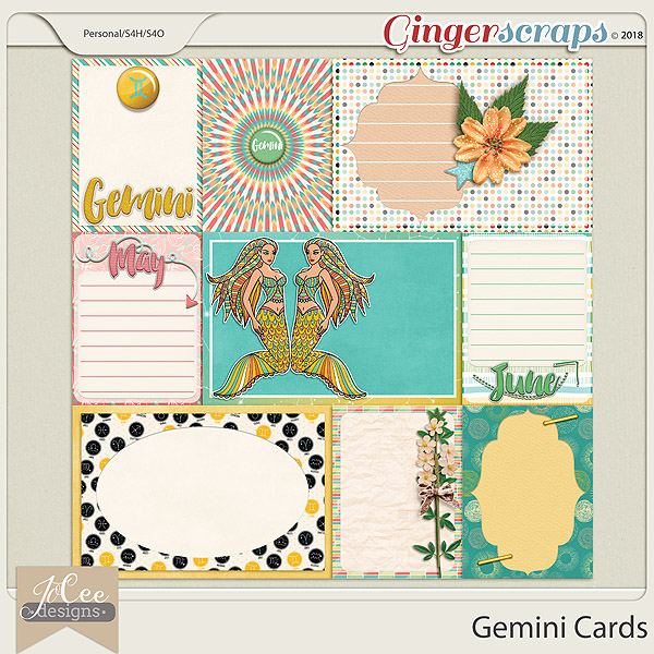 Gemini Cards by JoCee Designs