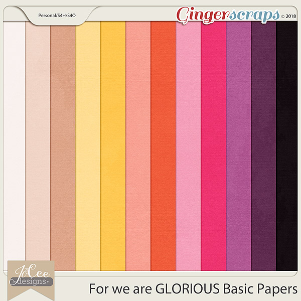 For we are Glorious Basic Papers by JoCee Designs