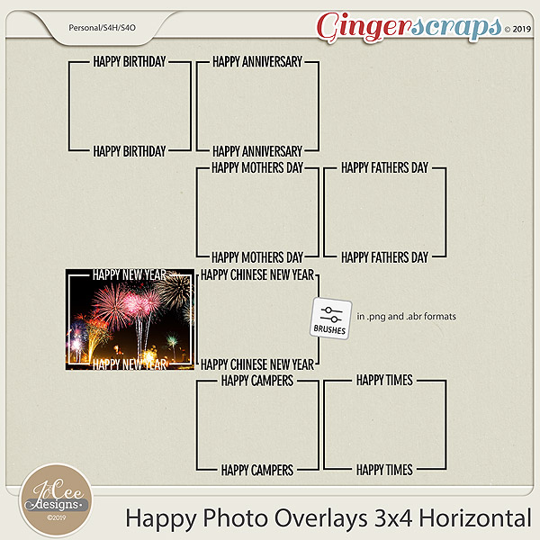 Happy Overlays 3x4 Horizontal