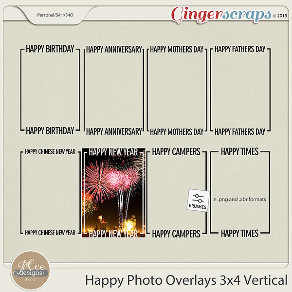 Happy Overlays 3x4 Vertical