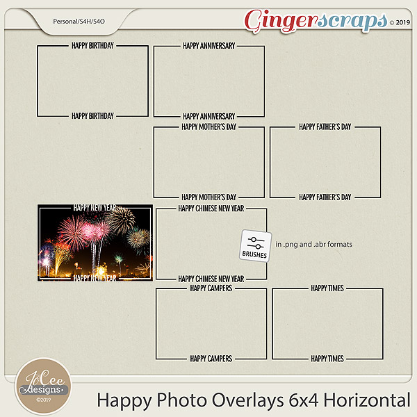 Happy Overlays 4x6 Horizontal