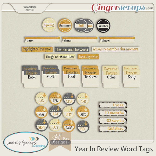 gingerscraps word art year in review word tags by jocee