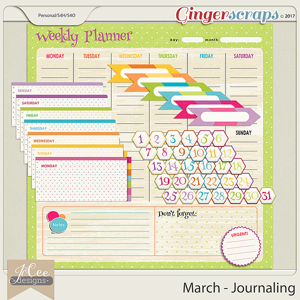 March Journaling Pack
