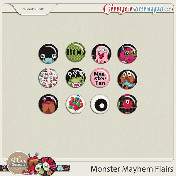 Monster Mayhem Flairs by JoCee Designs