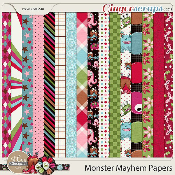 Monster Mayhem Papers by JoCee Designs