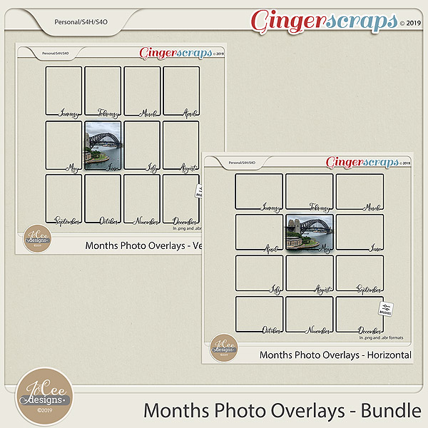Months Photo Overlays Bundle