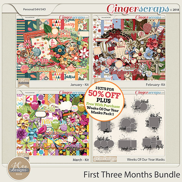 First Three Months Bundle PLUS Free With Purchase by JoCee Designs