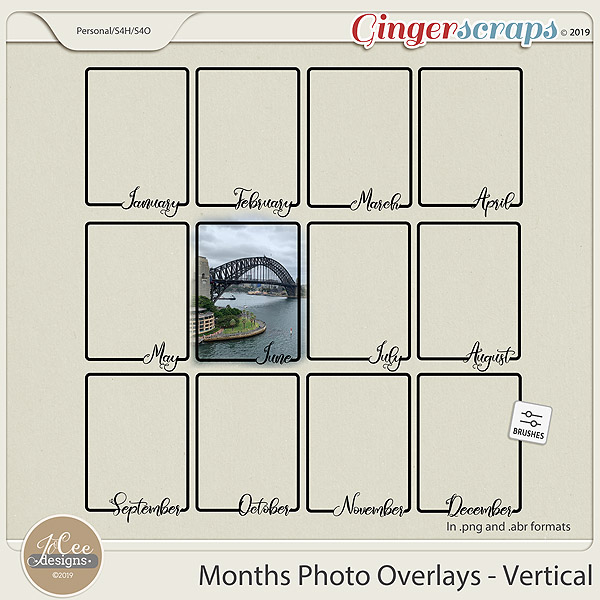 Months Photo Overlays – Vertical
