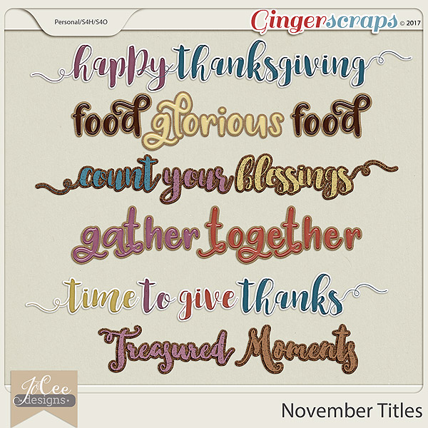 November Titles by JoCee Designs