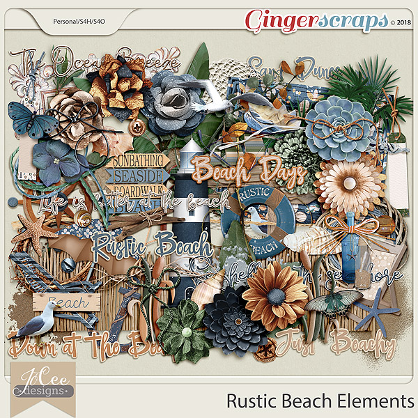 Rustic Beach Elements by JoCee Designs