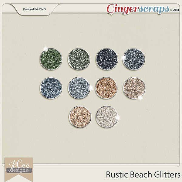 Rustic Beach Glitters by JoCee Designs