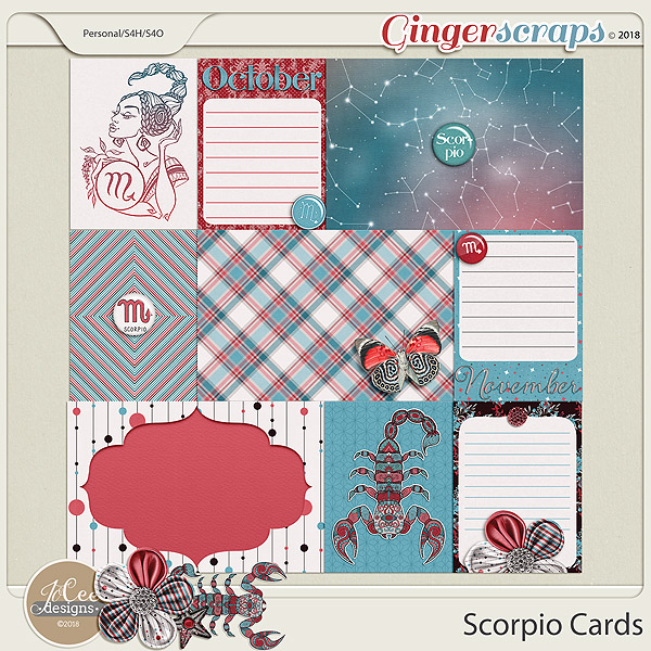 Scorpio Cards by JoCee Designs