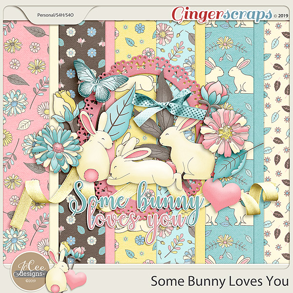 Some Bunny Loves You Mini Kit by JoCee Designs