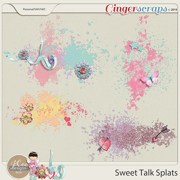 Sweet Talk Splats by JoCee Designs