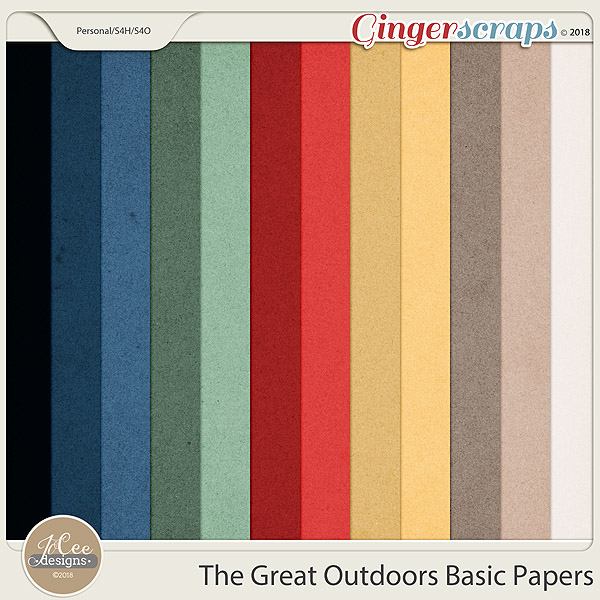The Great Outdoors Basic Papers by JoCee Designs
