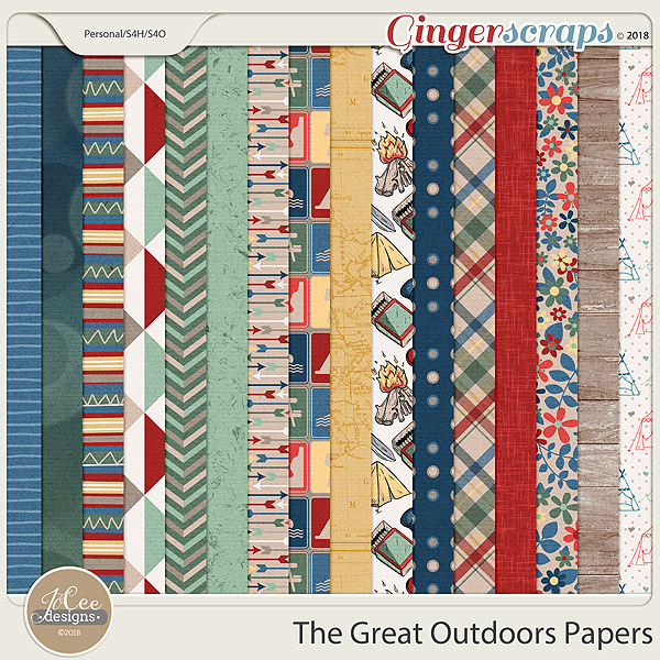 The Great Outdoors Papers by JoCee Designs