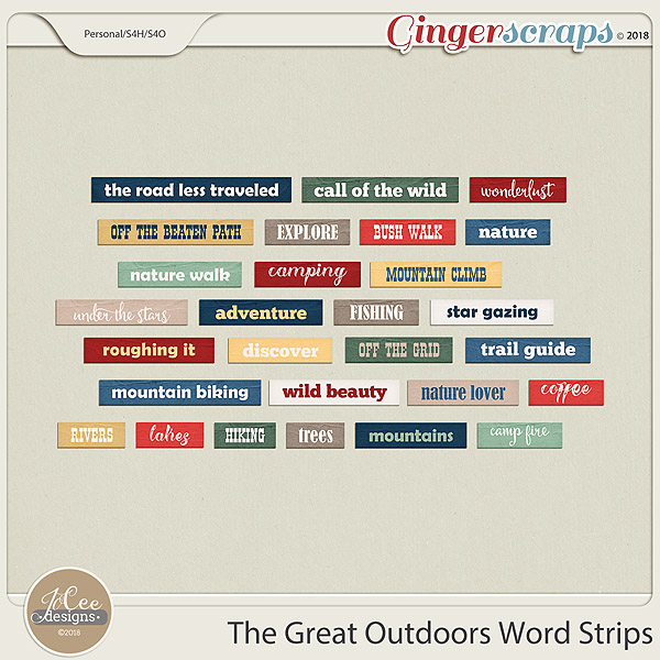 The Great Outdoors Word Strips by JoCee Designs