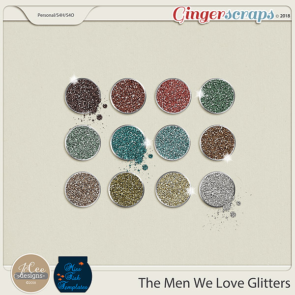 The Men We Love Glitters by JoCee Designs and Miss Fish